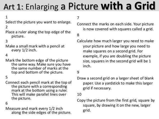 enlarging photos