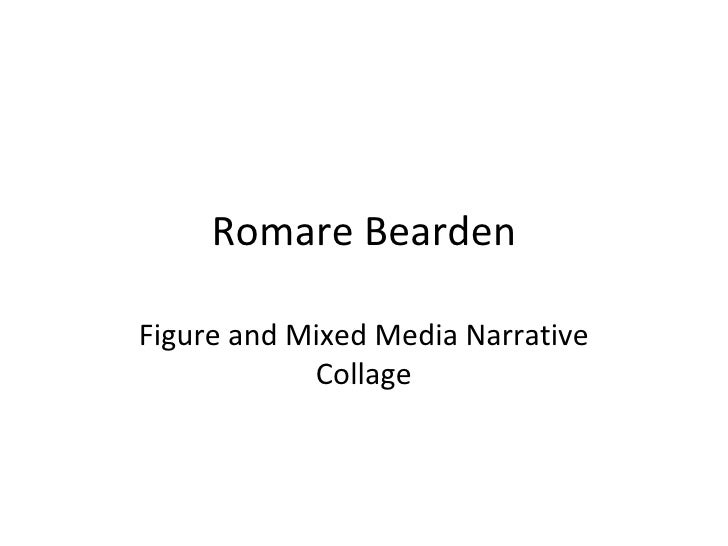 Romare BeardenFigure and Mixed Media Narrative            Collage
