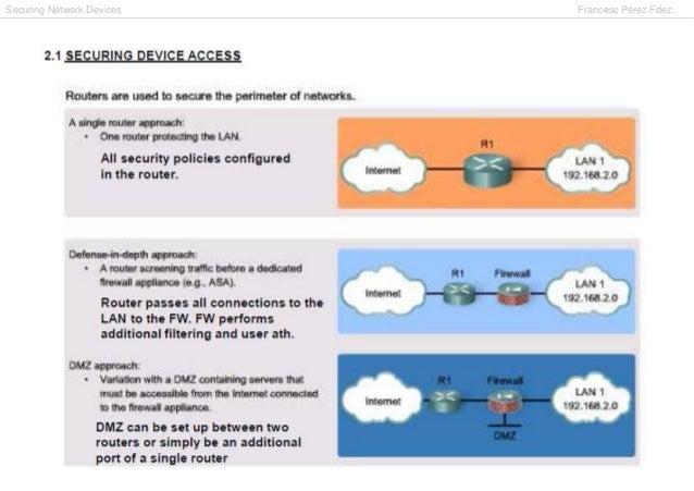 Securing Network Devices   Francesc Pérez Fdez.