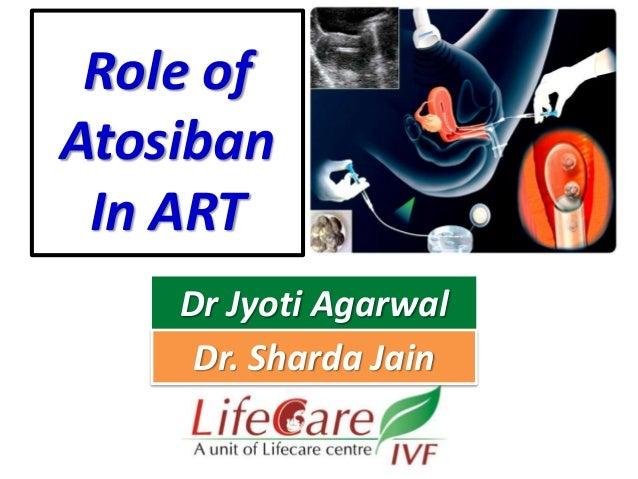 Role of Atosiban In ART Dr Jyoti Agarwal Dr. Sharda Jain