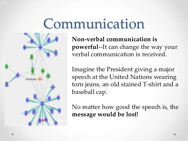 Communication Non-verbal communication is powerful--It can change the way your verbal communication is received. Imagine t...