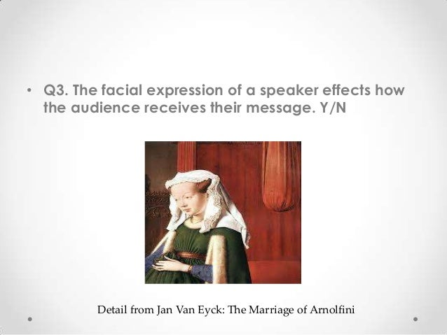 • Q3. The facial expression of a speaker effects how the audience receives their message. Y/N Detail from Jan Van Eyck: Th...