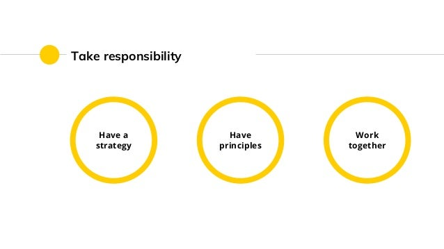 Take responsibility Have a strategy Work together Have principles