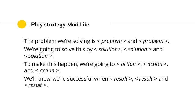 The problem we're solving is < problem > and < problem >. We're going to solve this by < solution>, < solution > and < sol...