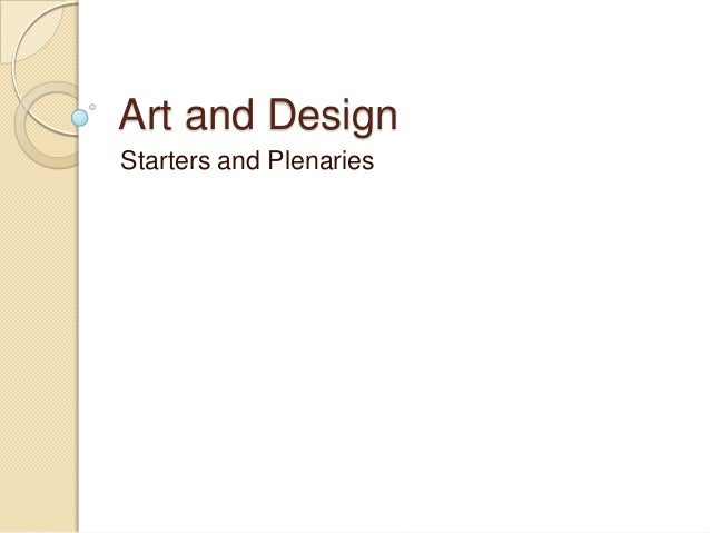 Art and Design Starters and Plenaries