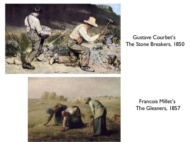 courbet's the stone breakers Courbet was very disappointed in the government's turn to conservatives to consolidate power, and many of his works of the period created shock not only in the.