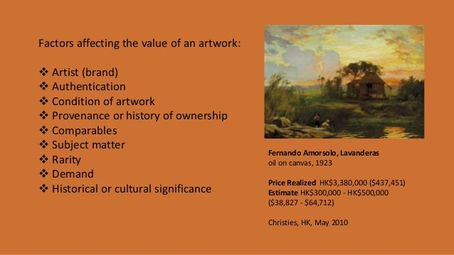 factors affecting the work of the artist