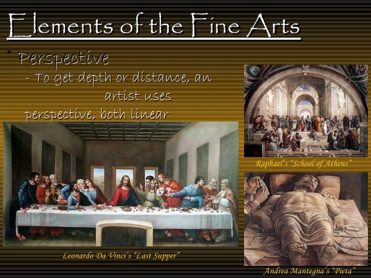Arts And Elements : Elements of the fine art