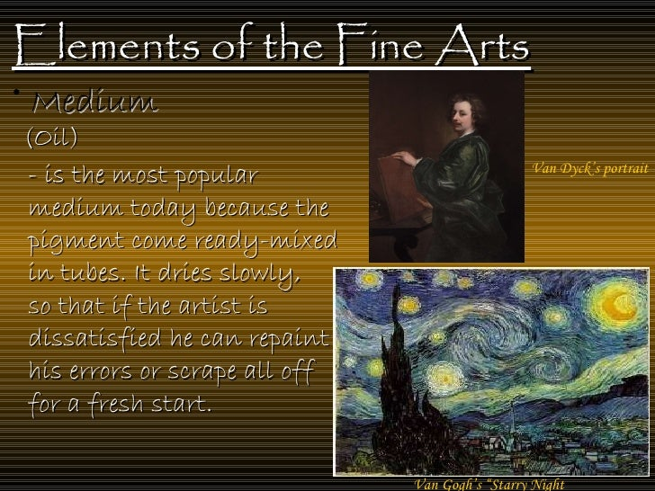 8 Art Elements : Elements of the fine art