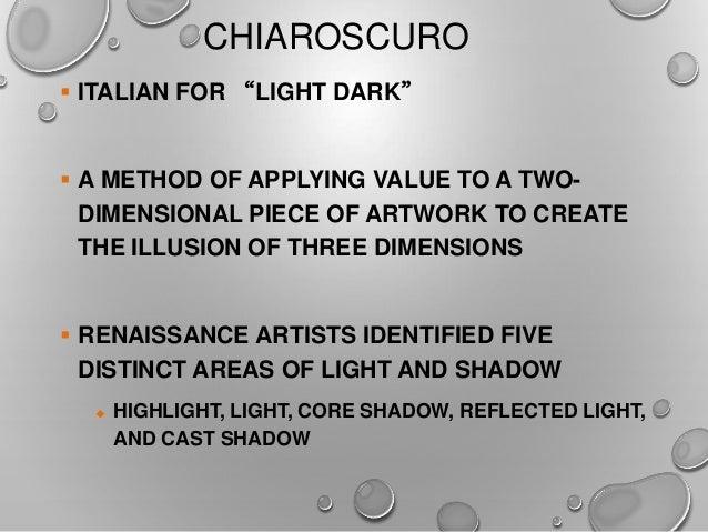 8 Art Elements : Art appreciation elements of value space