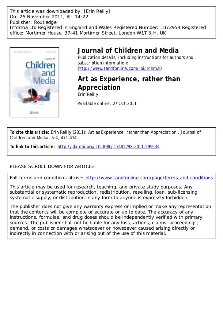 This article was downloaded by: [Erin Reilly]On: 25 November 2011, At: 14:22Publisher: RoutledgeInforma Ltd Registered in ...