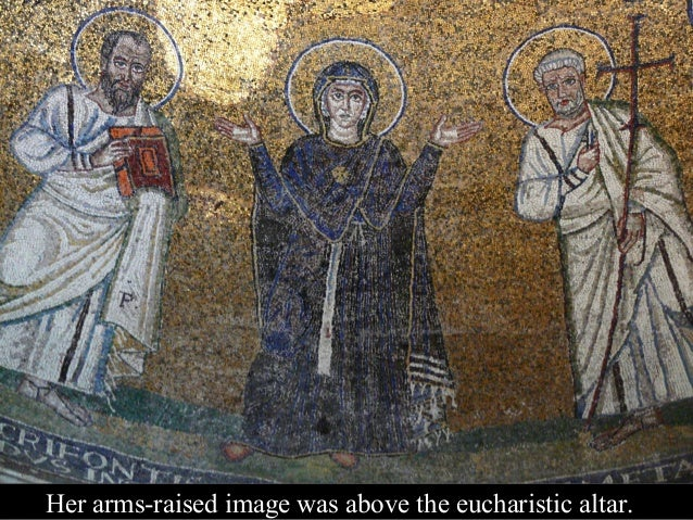 In the late 1800s, de Rossi painted the mosaic. His illustration showed a red cross on the white.
