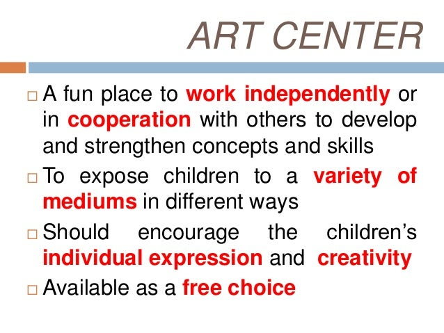 What the children learn Creativity and individuality Imagination Master simple shapes and colors Communication skills...