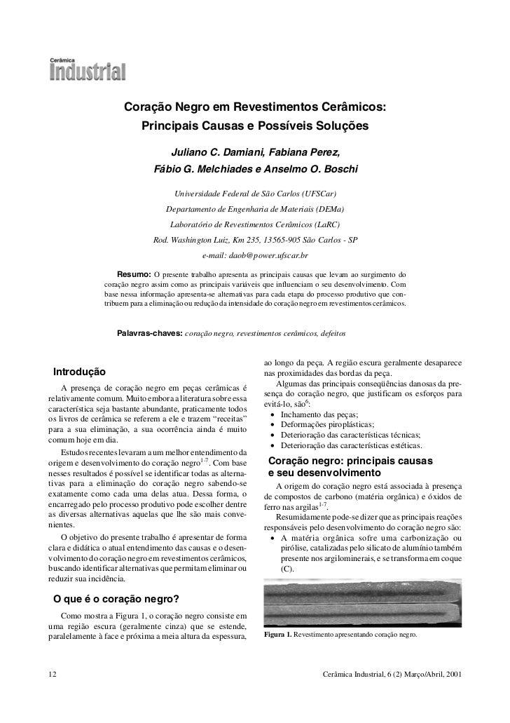 Coração Negro em Revestimentos Cerâmicos:                            Principais Causas e Possíveis Soluções               ...