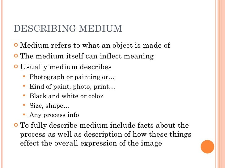 describing artwork