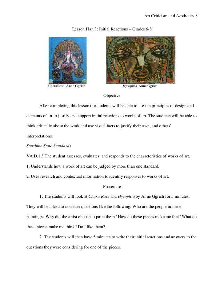 standard grade art design essay