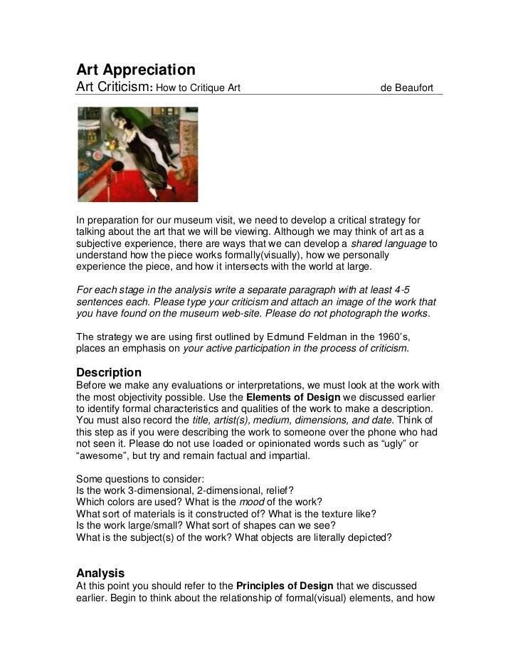 feldman art criticism pdf