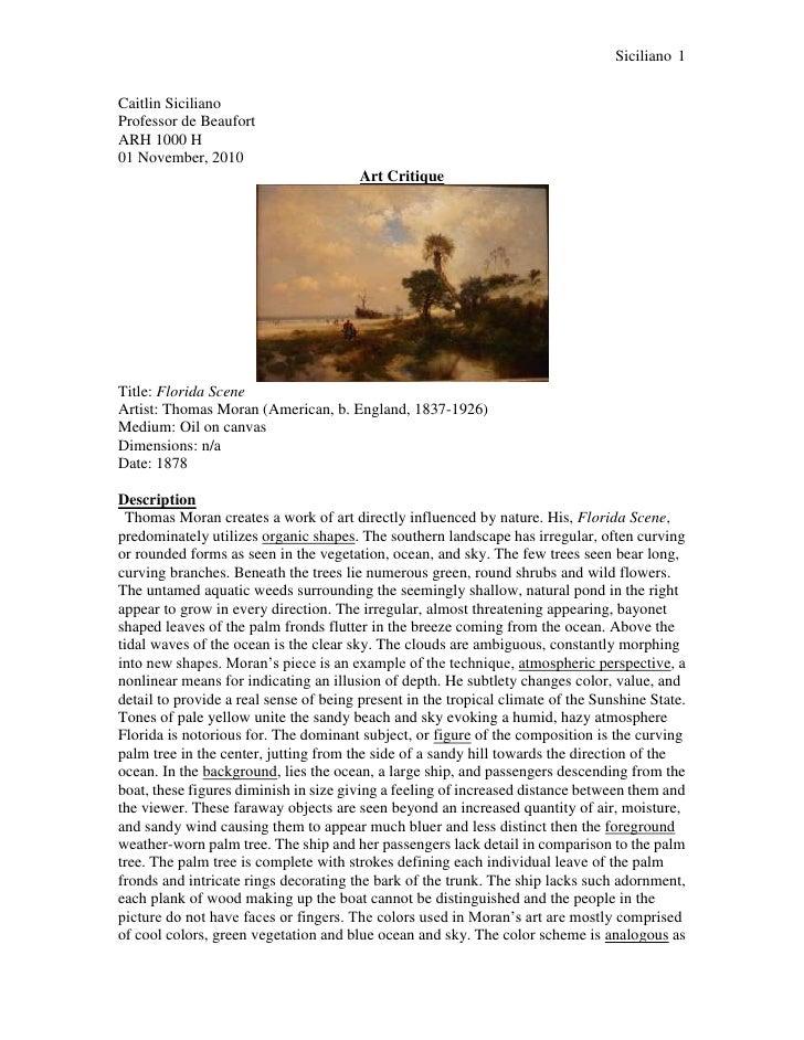 art review essay