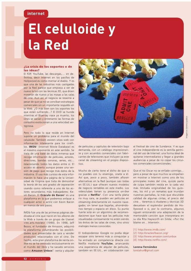 NTERNET        internet           El celuloide y        la Red   ��������������������������������   ����������   ��� �����...