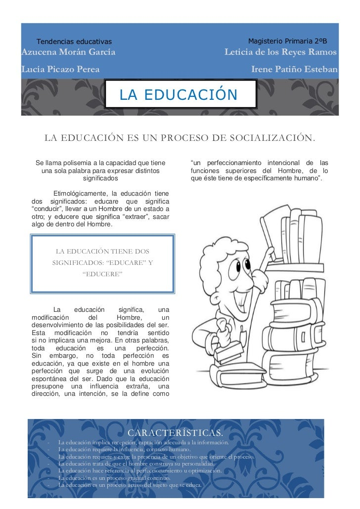 Tendencias educativas                                                                  Magisterio Primaria 2ºBAzucena Morá...