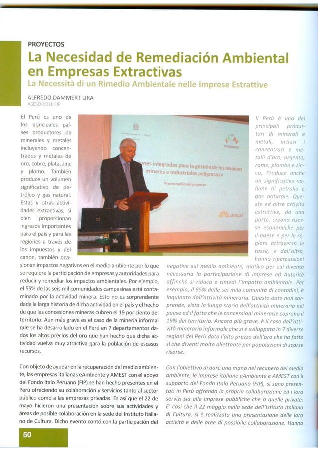 La necessità di un Rimedio Ambientale nelle Imprese Estrattive