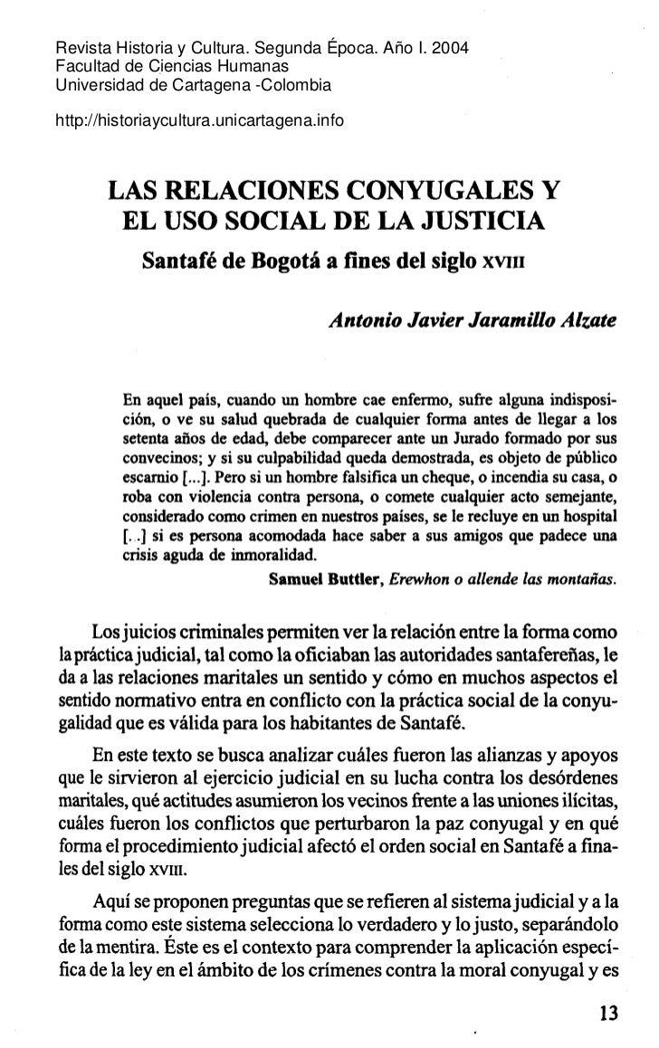 Revista Historia y Cultura. Segunda Época. Año I. 2004 Facultad de Ciencias Humanas Universidad de Cartagena -Colombia  ht...