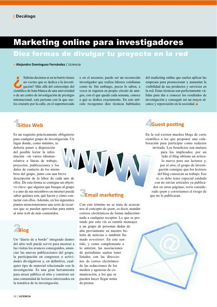 Marketing online para investigadores (artículo)