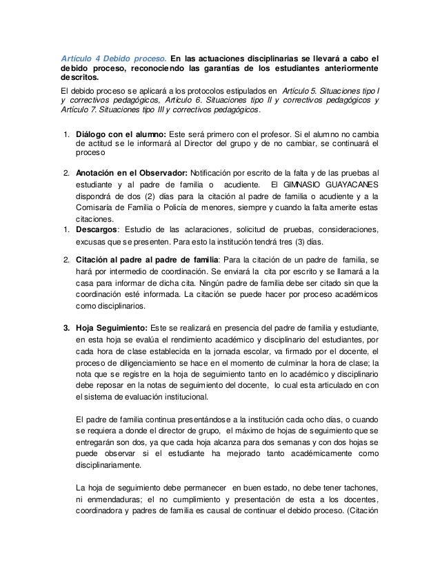 Artículo 4 debido proceso