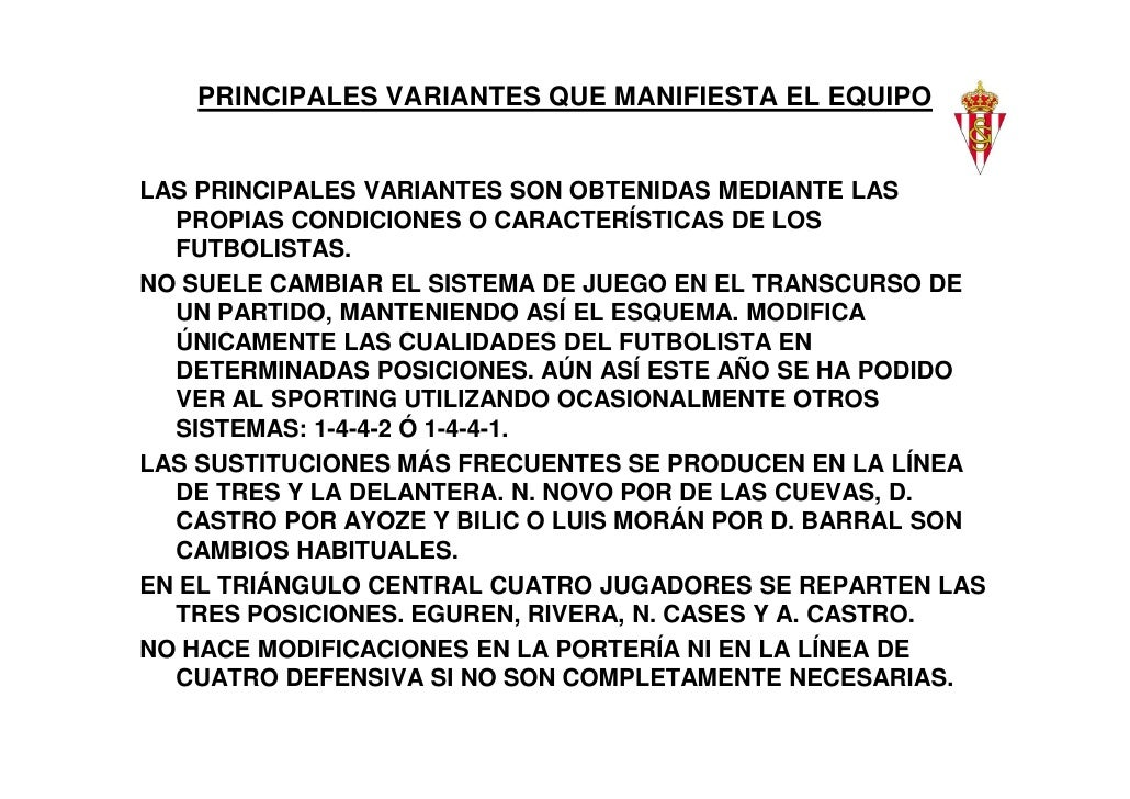 PRINCIPALES VARIANTES QUE MANIFIESTA EL EQUIPOLAS PRINCIPALES VARIANTES SON OBTENIDAS MEDIANTE LAS  PROPIAS CONDICIONES O ...