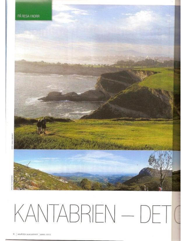 Artículo cantabria, spañienmagasinet, suecia, abril 2012