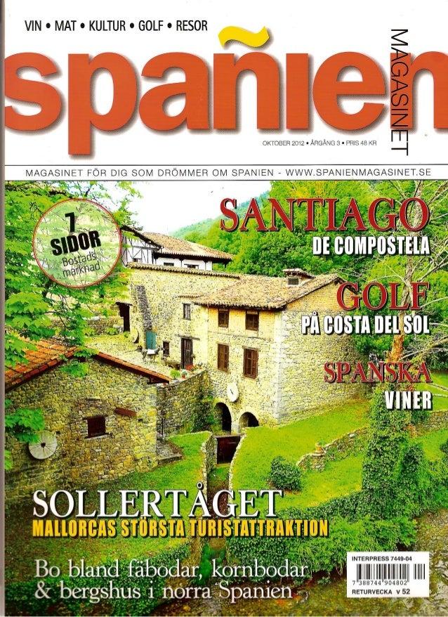 Hus i norra Spanien, spañienmagasinet, suecia oct 2012