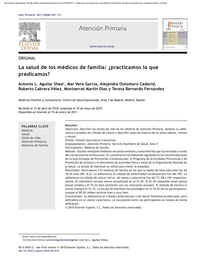 Documento descargado de http://www.elsevierinsituciones.com el 20/06/2011. Copia para uso personal, se prohíbe la transmis...