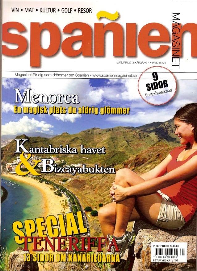 Artículo mar, spañienmagasinet, suecia enero 2013