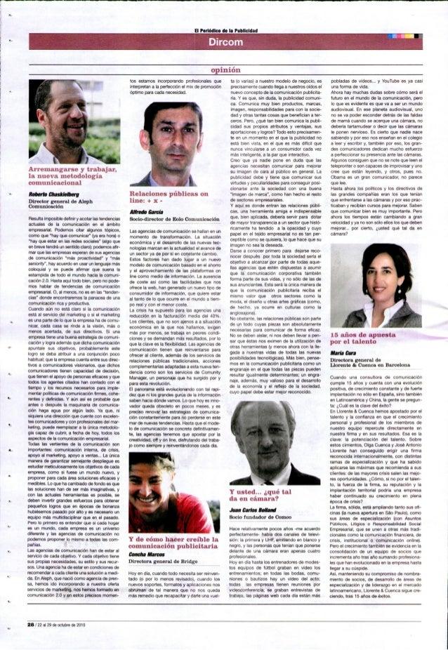 """El Periódico de la Publicidad  'nn-nin  opinión     AlTElllilngïlFSe y trabajan"""".  la nueva metodologia comunicacional  Ro..."""