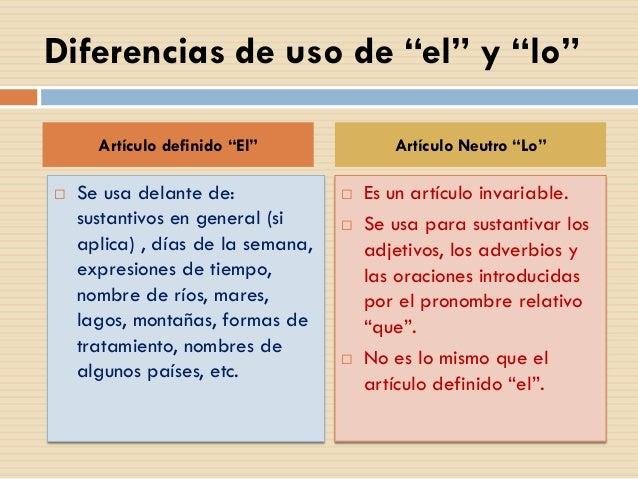 Artículo neutro LO