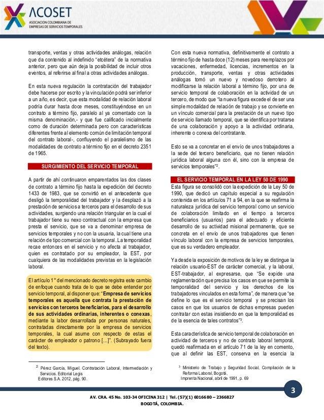 Art culo relaci n comercial y de trabajo en las empresas de servicio - Oficinas de trabajo temporal ...