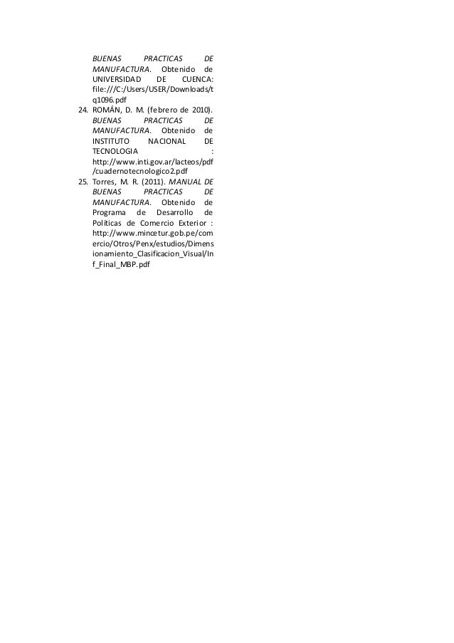 Art culos de actualizaci n bpm Manual de buenas practicas de manufactura pdf