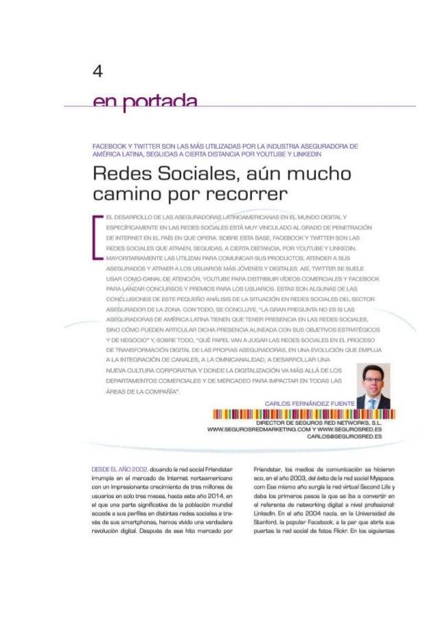 Articulo sobre las redes sociales en actualidad aseguradora America Latina