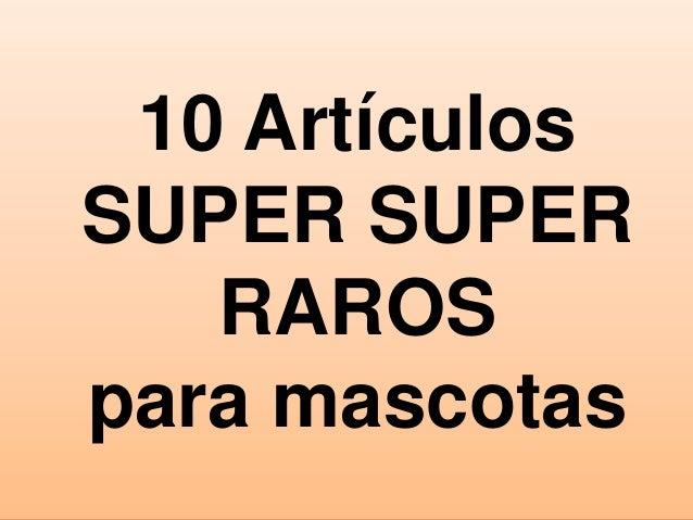10 Artículos SUPER SUPER RAROS para mascotas