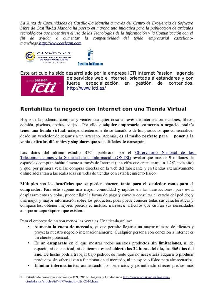 La Junta de Comunidades de Castilla-La Mancha a través del Centro de Excelencia de SoftwareLibre de Castilla-La Mancha ha ...