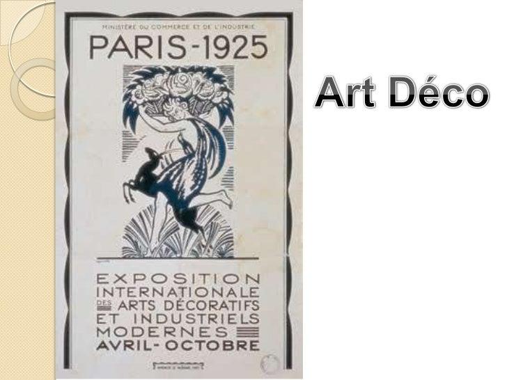 Surgimento da Art Déco Estilo   decorativo Paleta   de cores Influências   étnicas