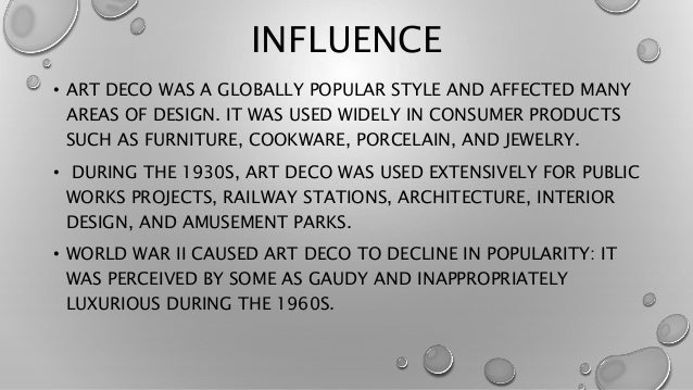 3 INFLUENCE O ART DECO