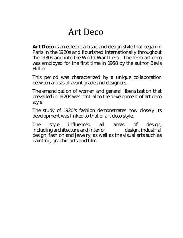 Art deco document pdf for Art deco era dates