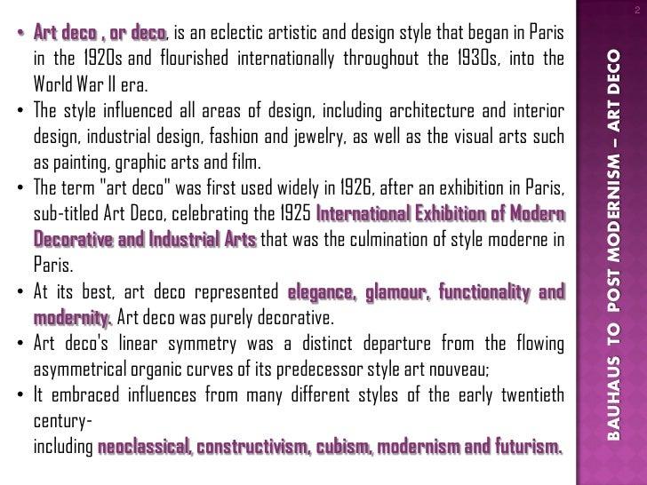 ... MODERNISM; 2. 2u2022 Art Deco ...