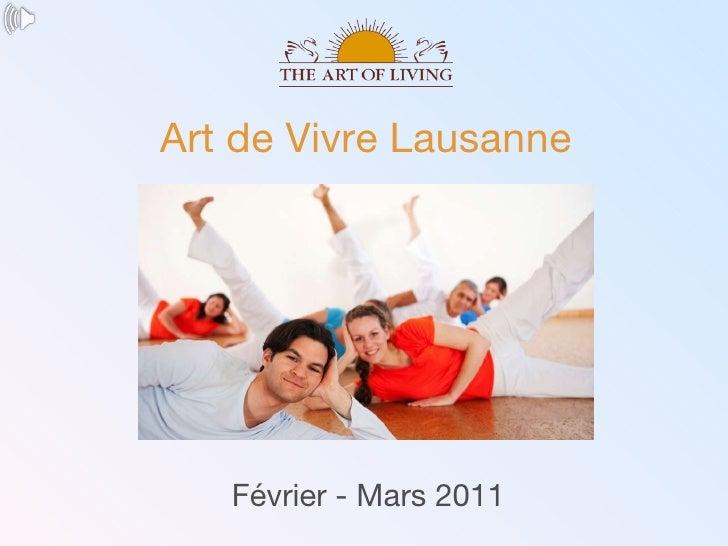 Février - Mars 2011 Art de Vivre Lausanne