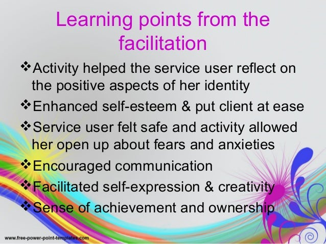 Evaluation  Service user was relaxed and felt safe in  environment. Created a positive  relationship between student and s...