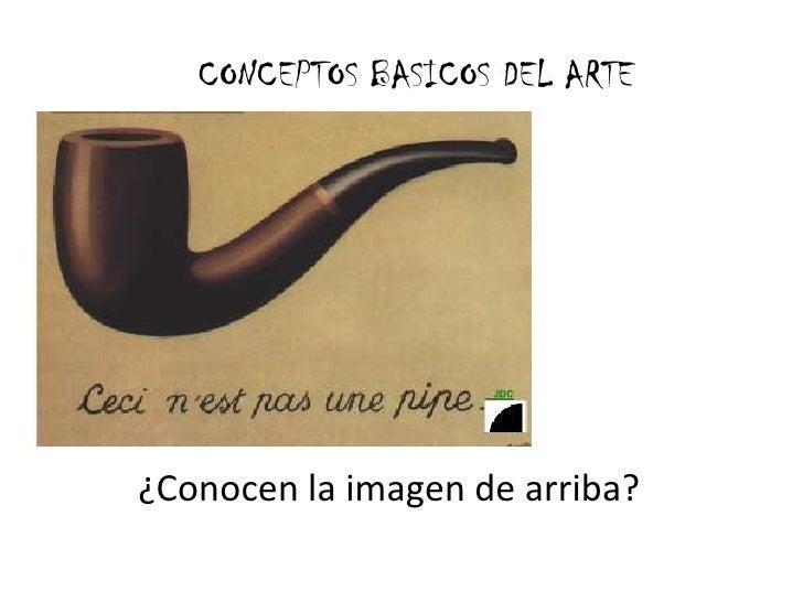 CONCEPTOS BASICOS DEL ARTE<br />¿Conocen la imagen de arriba?<br />