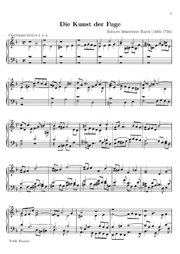 Arte De La Fuga 1 A 4 De Bach
