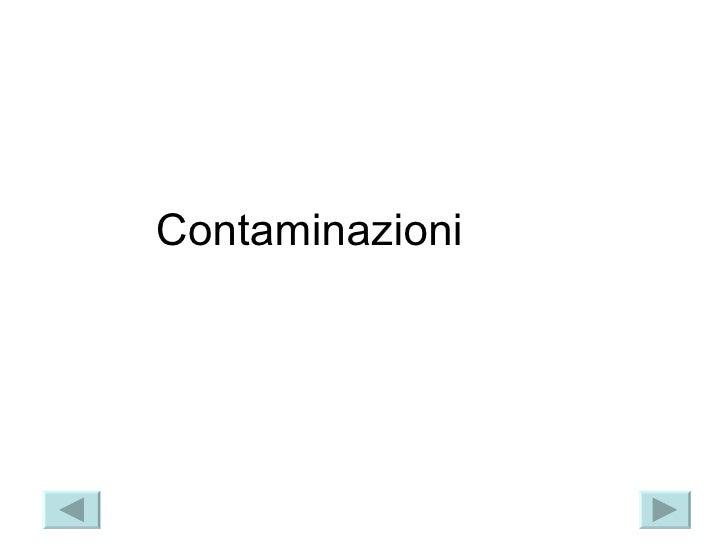 Contaminazioni