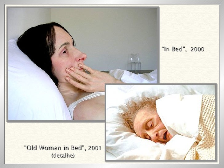 """"""" In Bed"""",   2000 """" Old Woman in Bed"""",  2001 (detalhe)"""